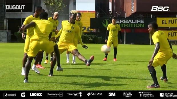 Barcelona SC get ready for their Libertadores game vs Junior