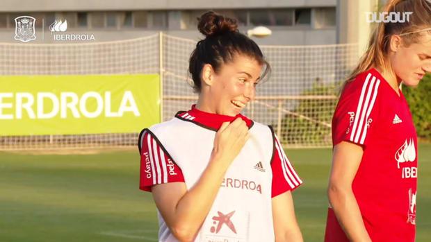 Free-kick goals in Spain women's training