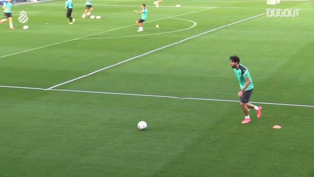 RCD Espanyol players take on precision challenge
