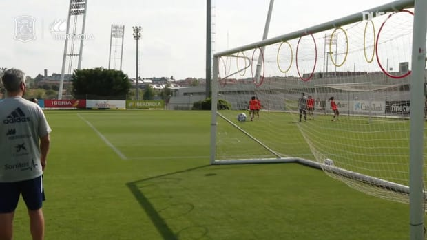 Precision circuit at Spain women's training