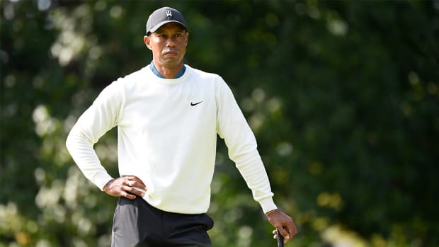 Golfer Tiger Woods at the U.S. Open