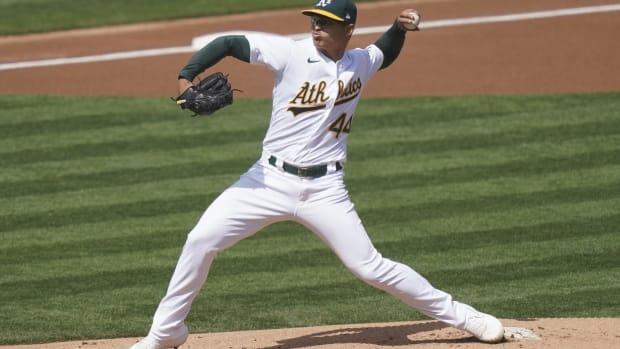 Jesús Luzardo throws six scoreless innings vs. Giants