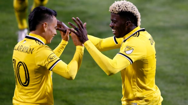 The Columbus Crew lead the MLS Supporters' Shield standings