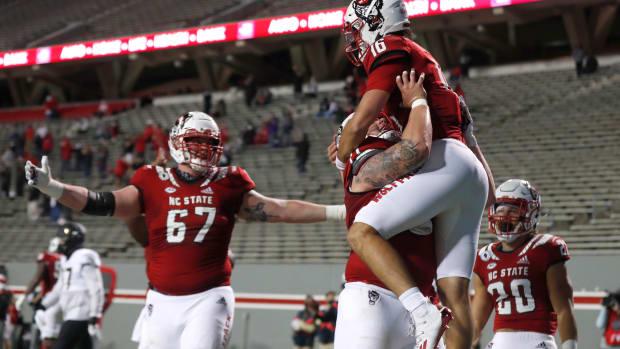 Hockman touchdown celebration