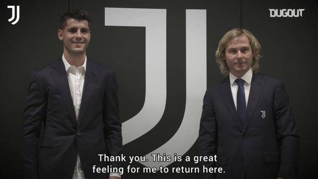 Alvaro Morata's first interview after Juventus return
