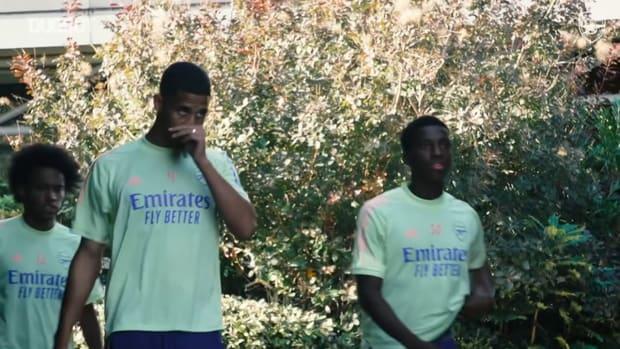 Arsenal stars train before Carabao Cup clash