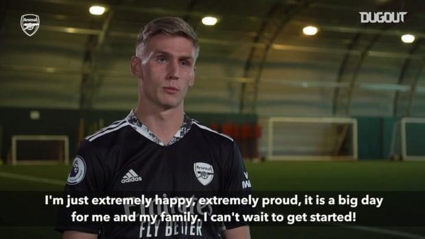 Alex Rúnarsson's first interview as an Arsenal player