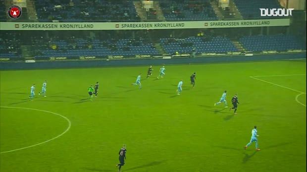 Alexander Sørloth opens the scoring vs Randers FC