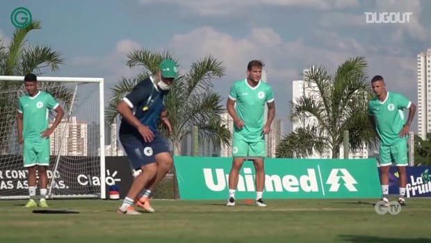 Goiás trains for the game against Ceará in the 2020 Brazilian Championship