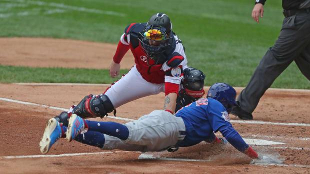 Billy Hamilton steals home Cubs 2020-09-27 (Dennis Wierzbicki) USATSI_14991634