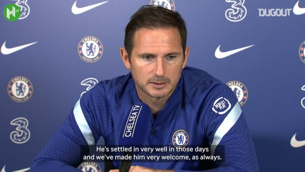 Frank Lampard discusses Chelsea's goalkeeper situation