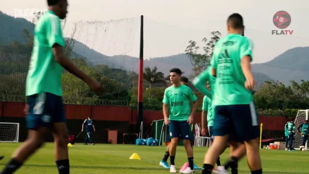 Flamengo's first session before Independiente del Valle clash