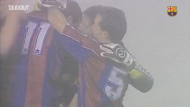 El golazo de Hagi ante el Celta de Vigo en el 'partido de la niebla'