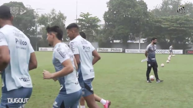 Santos' training session before match face Olimpia