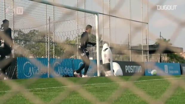 Corinthians last training session before Atlético-GO clash