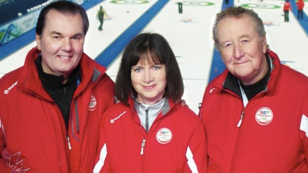 Turnbull (far right) at Vancouver 2010