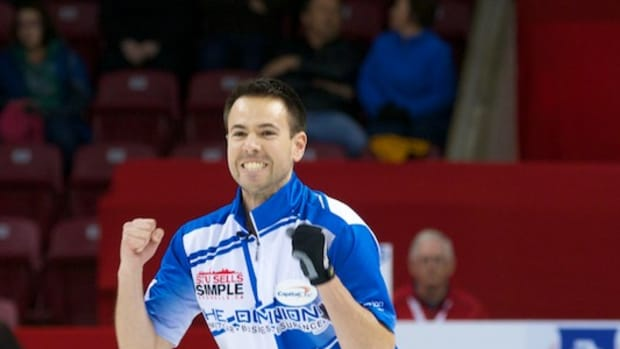 John Epping fist-pumps upon victory