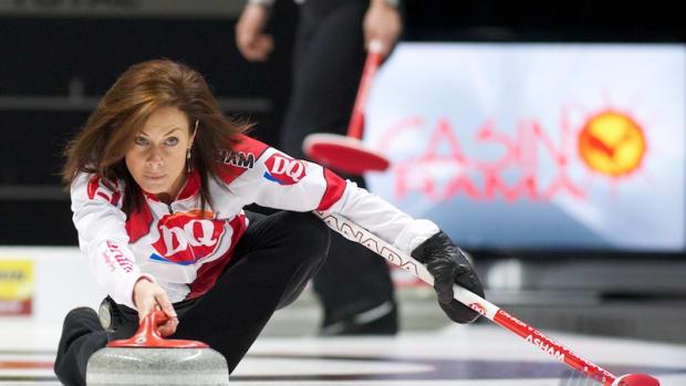 Cheryl Bernard practicing, just a few minutes ago