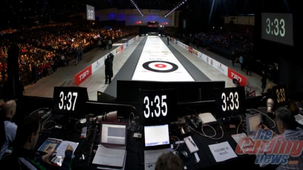 Countdown to skins curling, from the media bench