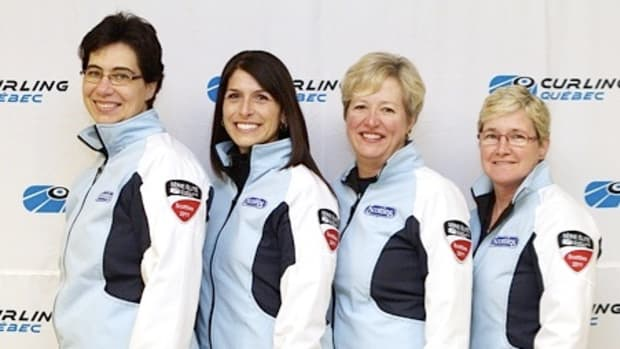 Joelle Sabourin, second from left, with Team Osborne