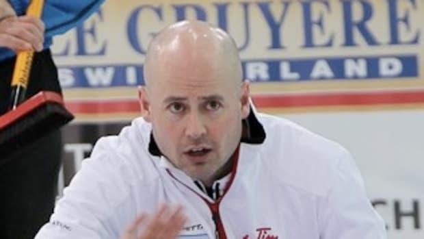 Canada skip Kevin Koe in Cortina