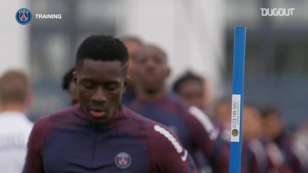 Paris Saint-Germain's last training session before Angers clash