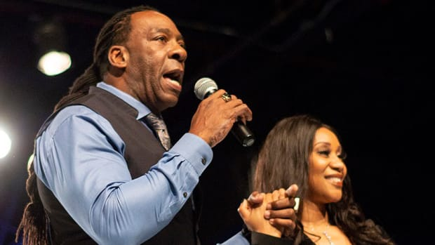 Booker T and his wife, Sharmell Huffman