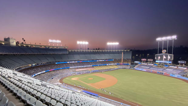 The A's will be the home team at Dodger Stadium for ALDS against the Astros
