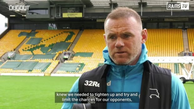 Wayne Rooney reacts to his match winning free-kick vs Norwich