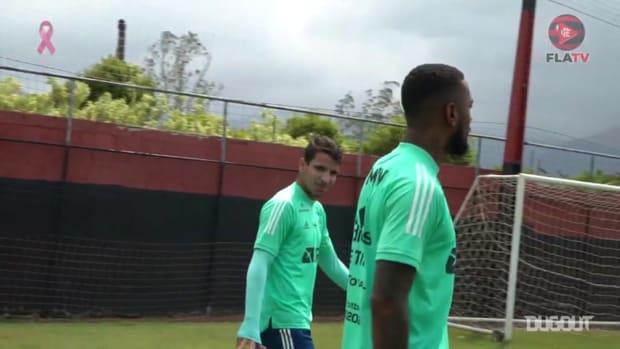 Flamengo's last training session before Athletico-PR clash