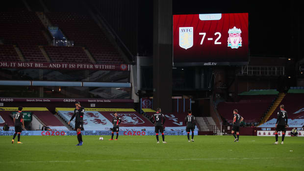 Liverpool loses to Aston Villa in a stunning rout