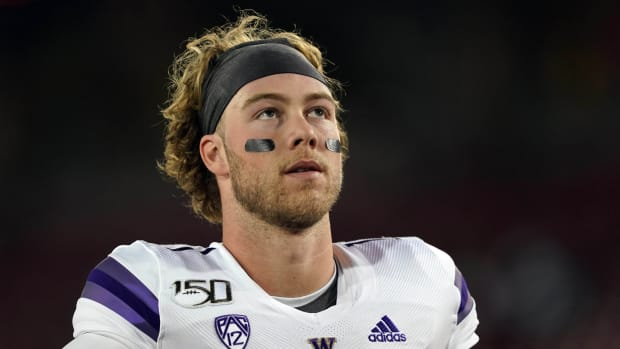 Jacob Sirmon is one of four QBs chasing the UW starting job.