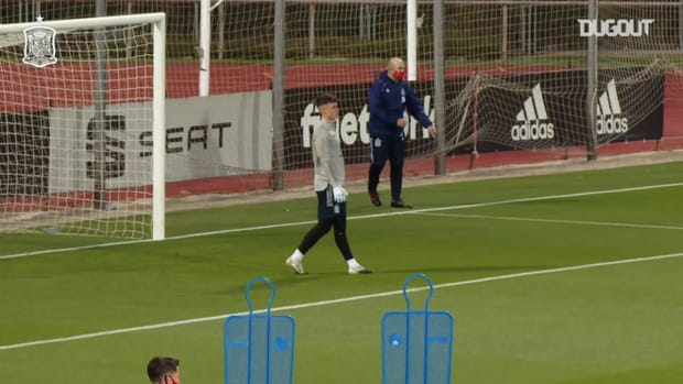 Great saves by Kepa in training