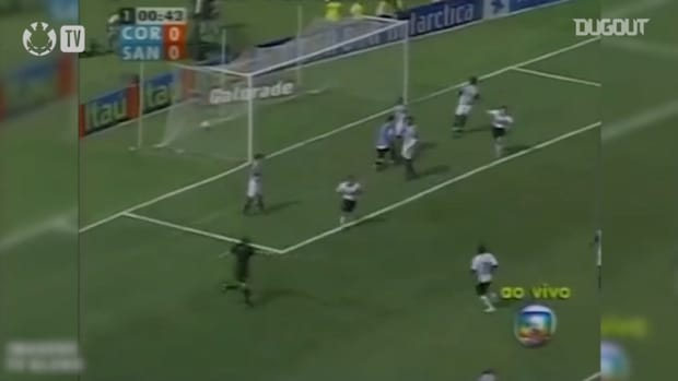 Tevez's hat-trick helps Corinthians to put seven past Santos in 2005