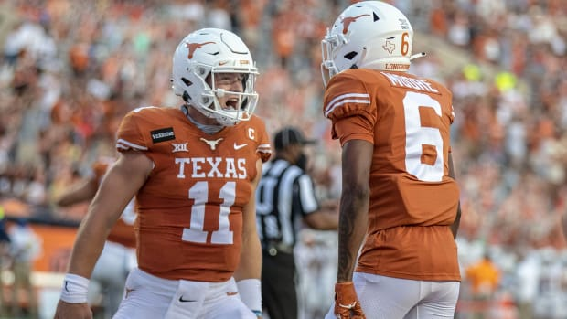 Sam Ehlinger and No. 22 Texas will face Oklahoma in the Red River Showdown.