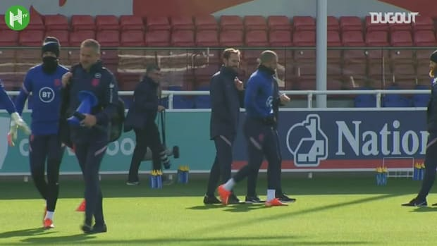 Calvert-Lewin and Saka train with England for the first time