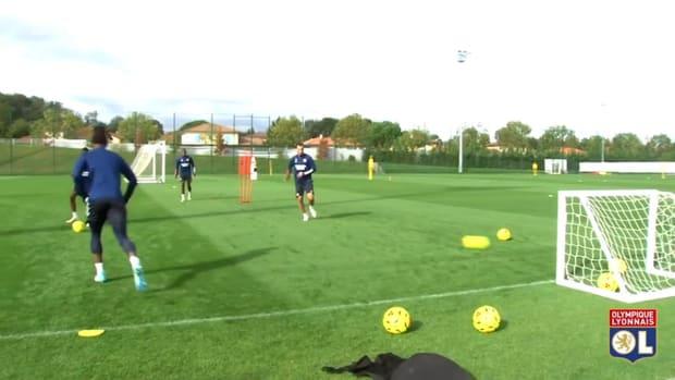 Benlamri's first training at Lyon
