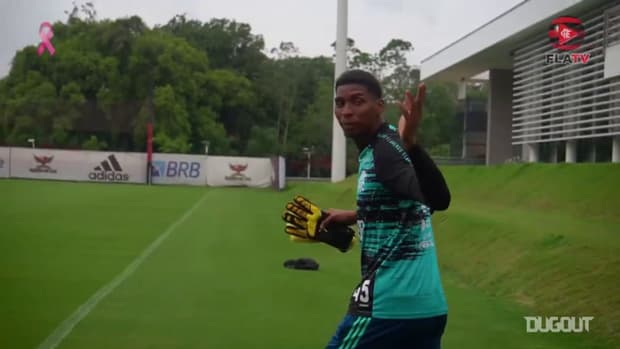 Flamengo train ahead of the derby against Vasco