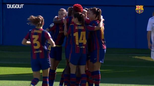 Highlights: Barça Women 6-0 Logroño