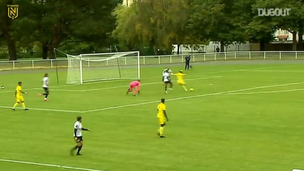 Augustin's first goal with Nantes in a friendly game against Angers