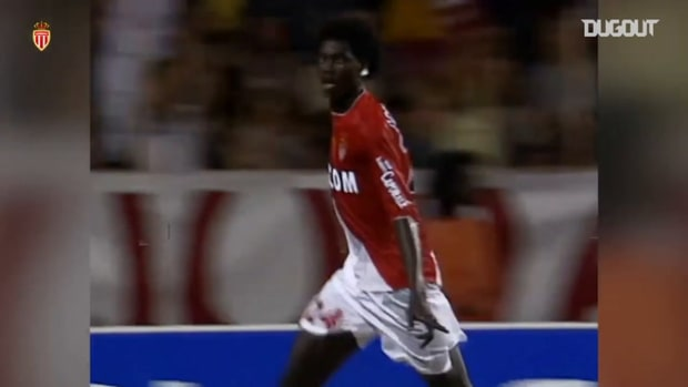 Adebayor's first goal at Monaco