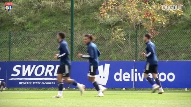 De Sciglio's first training session with Olympique Lyonnais