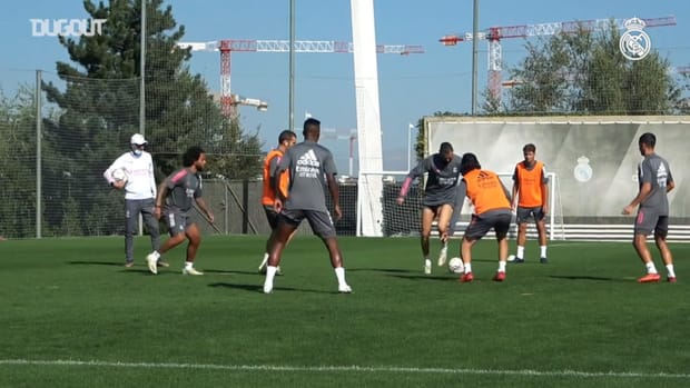 Focus on Vinicius Jr. during training: shooting, assists, physical and ball work