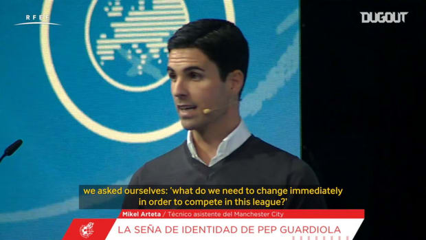 Arteta explains how Guardiola adapted to English football