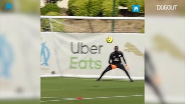 Luis Henrique trains with Olympique de Marseille