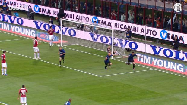 Diego Milito's hat-trick vs AC Milan
