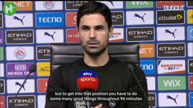 Arteta impressed with Arsenal's Etihad performance despite defeat