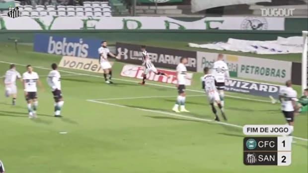 Santos beat Coritiba at Couto Pereira
