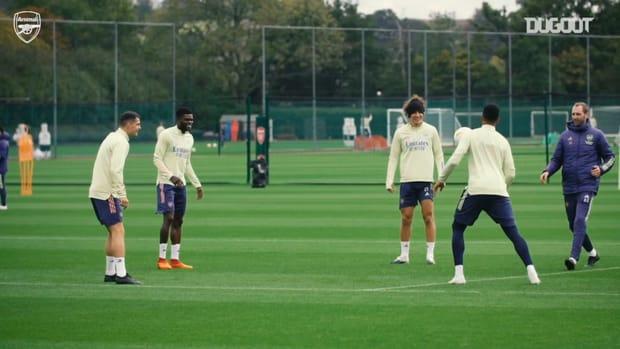 Thomas Partey impresses in training ahead of Europa League clash