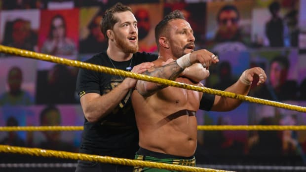 Bobby Fish and Kyle O'Reilly in the ring on NXT